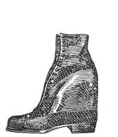 Ортопедическая обувь. Ботинок с коском для компенсации укорочения