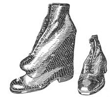 Ортопедическая обувь. Ботинок с двойным следом для компенсации укорочения.